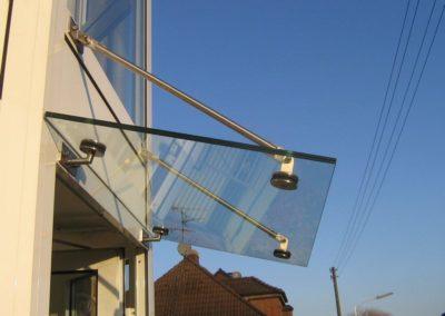 Hauseingang-Überdachung - Stahldesign Frank Busch